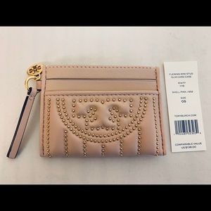 Tory Burch NWT Fleming Mini Stud Slim Card Case
